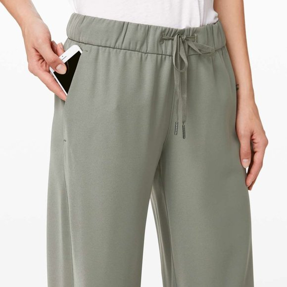 On the Fly Wide-Leg 7/8 Pant *Woven SAGE 🍃